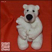 Войлочная игрушка ручной работы. Ярмарка Мастеров - ручная работа Колыбельная для медвежонка. Handmade.