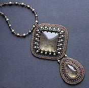 Украшения handmade. Livemaster - original item Pendant bead with cabochons handmade swarovski pearls. Handmade.
