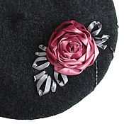 Аксессуары handmade. Livemaster - original item Beret with embroidered FLOWERS BLOOM. Handmade.