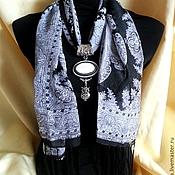 Аксессуары ручной работы. Ярмарка Мастеров - ручная работа шарф колье с кулоном из кахолонга. Handmade.
