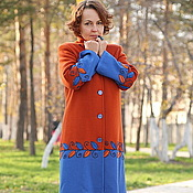 "Одежда handmade. Livemaster - original item Knitted coat ""Favorite colors-2"". Handmade."
