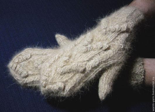 """Варежки, митенки, перчатки ручной работы. Ярмарка Мастеров - ручная работа. Купить Варежки женские из собачьей шерсти """"Стрелы Амура"""". Handmade."""