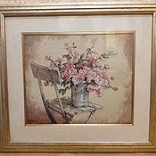 Картины ручной работы. Ярмарка Мастеров - ручная работа Картины: Розы на стуле. Handmade.