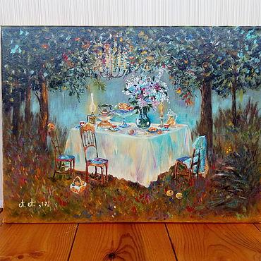 Картины и панно ручной работы. Ярмарка Мастеров - ручная работа В лунном саду. Handmade.