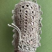 Мочалки ручной работы. Ярмарка Мастеров - ручная работа Варежка для бани или душа из джута. Handmade.