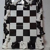 Сувениры и подарки ручной работы. Ярмарка Мастеров - ручная работа Фоторамка  мужская Шахматы-полимерная глина. Handmade.