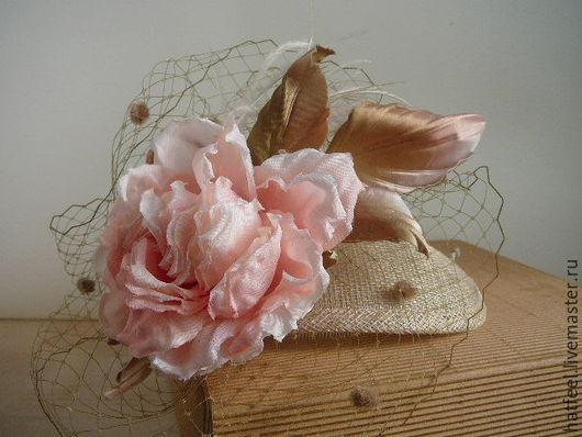 Шляпы ручной работы. Ярмарка Мастеров - ручная работа. Купить Шляпка коктейльная. Handmade. Бледно-розовый, шляпка женская