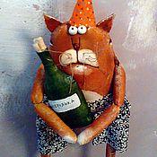 Куклы и игрушки ручной работы. Ярмарка Мастеров - ручная работа Рыжий кот день рождения... Handmade.