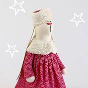 Куклы и игрушки ручной работы. Ярмарка Мастеров - ручная работа Зайка тильда Барышня - мягкая игрушка. Handmade.