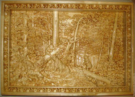 """Репродукции ручной работы. Ярмарка Мастеров - ручная работа. Купить """"Утро в сосновом бору"""" по мотивам картины И.Шишкина. Handmade."""