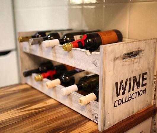Кухня ручной работы. Ярмарка Мастеров - ручная работа. Купить Подставка для вина. Handmade. Серый, для бутылок, лофт