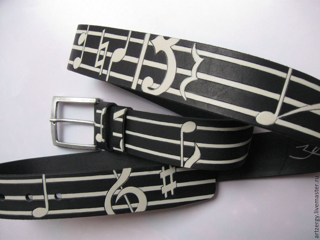NOTE No. 2 the leather belt, Straps, Moscow,  Фото №1