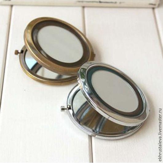 Шитье ручной работы. Ярмарка Мастеров - ручная работа. Купить Заготовка для зеркала, 2 цвета. Handmade. Золотой, маленькое зеркало