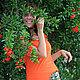 """Топы ручной работы. Ярмарка Мастеров - ручная работа. Купить Топ """"Лесная фея"""" трикотажный оранжевый. Handmade. Оранжевый, лес"""