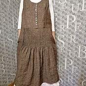 Платья ручной работы. Ярмарка Мастеров - ручная работа Платье Бохо льняное. Handmade.