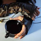 Аксессуары handmade. Livemaster - original item Mitts leather