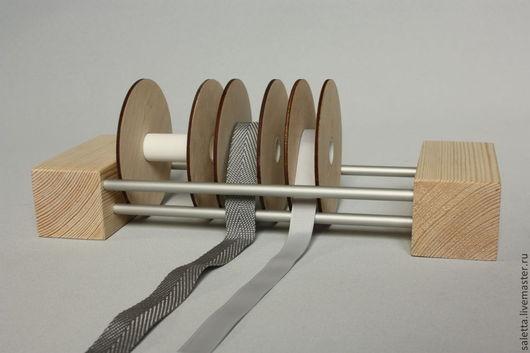 Органайзеры для рукоделия ручной работы. Ярмарка Мастеров - ручная работа. Купить Модуль настольный для катушек с лентами.. Handmade. Бежевый