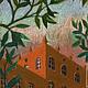 Город ручной работы. Ярмарка Мастеров - ручная работа. Купить Башня. Handmade. Графика, пастель, картина в подарок, картина для интерьера