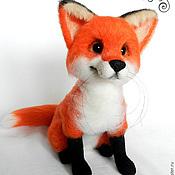 Куклы и игрушки ручной работы. Ярмарка Мастеров - ручная работа Огненно-рыжая лиса Азалия. Handmade.