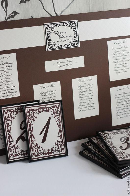 Свадебные аксессуары ручной работы. Ярмарка Мастеров - ручная работа. Купить Рассадка гостей. Handmade. Комбинированный, рассадка на свадьбу, печать