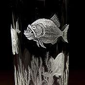 Посуда ручной работы. Ярмарка Мастеров - ручная работа стакан для коктейля  для сока воды пираньи. Handmade.
