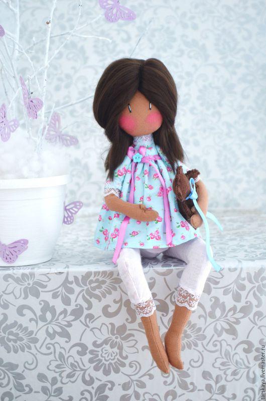 Коллекционные куклы ручной работы. Ярмарка Мастеров - ручная работа. Купить Беременюшка. Handmade. Голубой, кукла текстильная, беременная, беременной