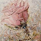 Картины и панно ручной работы. Ярмарка Мастеров - ручная работа Картина. Роза. Вспоминая дождь. Масло, холст, кисть и мастихин, 30х35. Handmade.