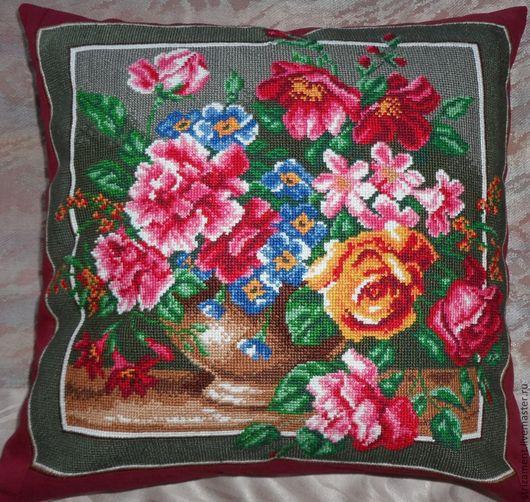 Цветочное изобилие, вариант -1, с подушкой