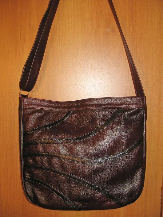 """Женские сумки ручной работы. Ярмарка Мастеров - ручная работа. Купить Кожаная сумка """"Любимая"""". Handmade. Однотонный, Кожаная сумка"""