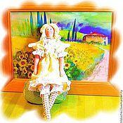 Куклы и игрушки ручной работы. Ярмарка Мастеров - ручная работа Солнечный Ангел Хранитель домашнего очага. Мини - Тильдочка. Handmade.