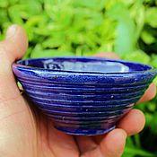 """Посуда ручной работы. Ярмарка Мастеров - ручная работа пиалы """"синий пух"""". Handmade."""