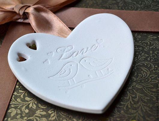"""Свадебные аксессуары ручной работы. Ярмарка Мастеров - ручная работа. Купить тарелочка для колец """"сердце"""" 75. Handmade. Белый, птичка"""
