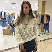 Одежда handmade. Livemaster - original item Milk Angora sweater. Handmade.