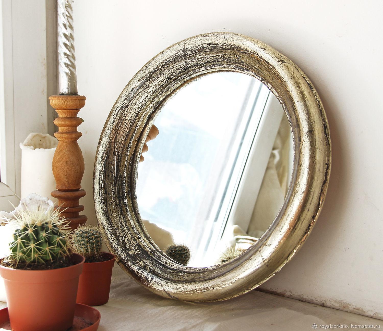 зеркало круглое зеркало в деревянной раме зеркало в ванную комнату