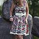 Платья ручной работы. Ярмарка Мастеров - ручная работа. Купить Платье из павлопосадских платков 2. Handmade. Разноцветный, павловопосадский платок