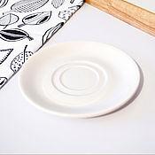 Посуда ручной работы. Ярмарка Мастеров - ручная работа Блюдце для чашки с надписью. Handmade.