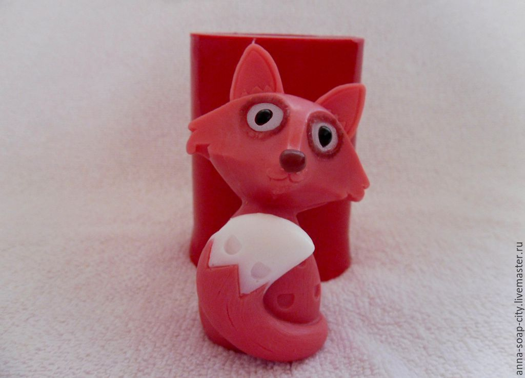 Silicone mold for soap and candles ' Fox', Makeup tools, Arkhangelsk,  Фото №1