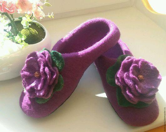 Обувь ручной работы. Ярмарка Мастеров - ручная работа. Купить Тапочки - Цветок. Handmade. Тапочки ручной работы, тапочки