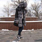 Одежда ручной работы. Ярмарка Мастеров - ручная работа Куртка-парка с чернобурой лисой на меху. Handmade.