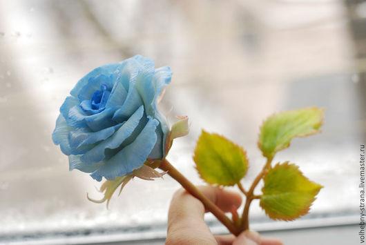 Цветы ручной работы. Ярмарка Мастеров - ручная работа. Купить Роза из полимерной глины. Холодный фарфор.. Handmade. Сказка, интерьер