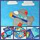 """Развивающие игрушки ручной работы. Ярмарка Мастеров - ручная работа. Купить Развивающая книжка из фетра """"Транспорт"""". Handmade. Игрушка из фетра"""
