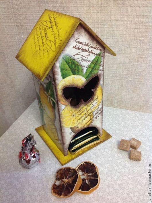 """Кухня ручной работы. Ярмарка Мастеров - ручная работа. Купить Чайный домик """"Лимонная свежесть"""". Handmade. Домик для чая"""