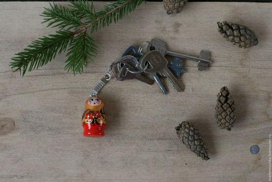 Брелок для ключей `Матрешка`, разные варианты росписи