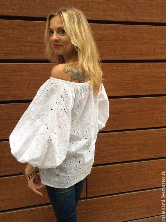 Блуза -хлопковое итальянское шитье.