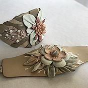 Украшения ручной работы. Ярмарка Мастеров - ручная работа Два браслета из кожи для мамы и дочки. Handmade.