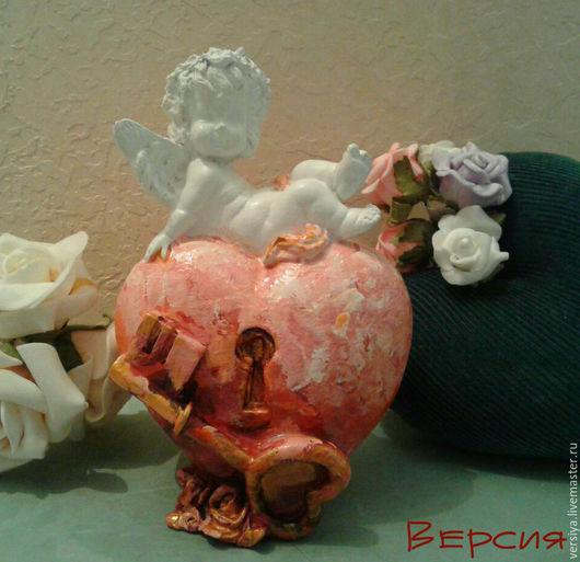 Статуэтки ручной работы. Ярмарка Мастеров - ручная работа. Купить Ангел на сердце.. Handmade. Комбинированный, статуэтка ангела, для интерьера