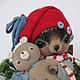 Мишки Тедди ручной работы. Ярмарка Мастеров - ручная работа. Купить Max and bear... :-). Handmade. Ежик
