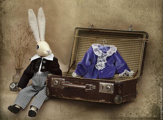 Сказочные персонажи ручной работы. Ярмарка Мастеров - ручная работа. Купить Кролик Эдвард 12. Игрушка.. Handmade. Фиолетовый