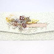 Открытки ручной работы. Ярмарка Мастеров - ручная работа Новогодний конверт в эко стиле. Handmade.