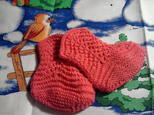 Для новорожденных, ручной работы. Ярмарка Мастеров - ручная работа. Купить Пинетки сапожки. Handmade. Розовый, пинетки в подарок